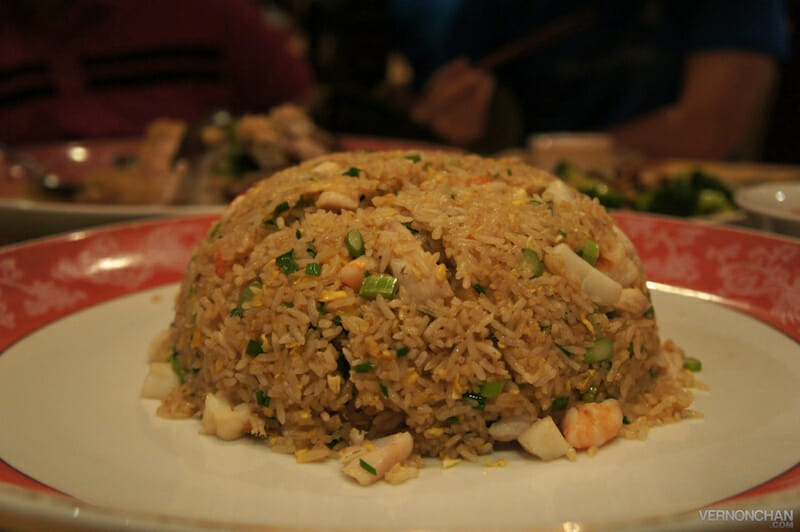 Sauteed Toh Yuen Fried Rice with Seafood.