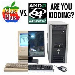 Mac Plus vs AMD 64 Athlon X2