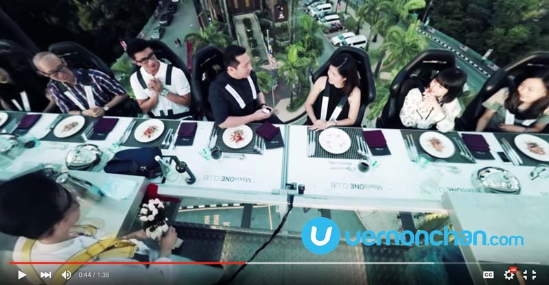 Maxis 360 video Dinner in the Sky