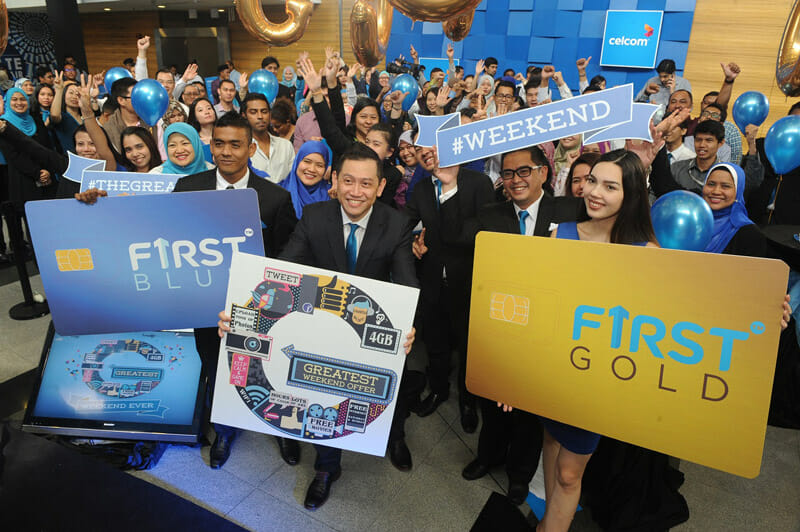 Free internet on weekends with Celcom's new FiRST Blue and FiRST Gold plans
