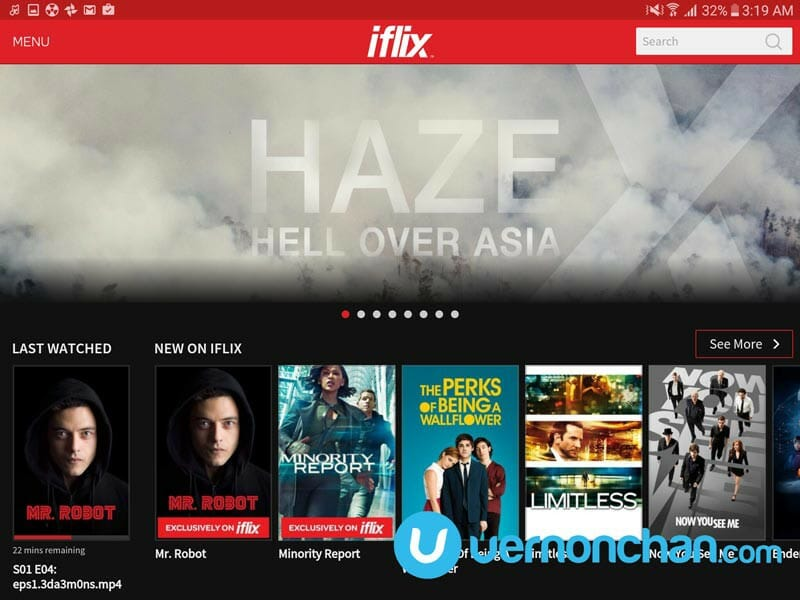 iflix on Samsung Galaxy Tab S2
