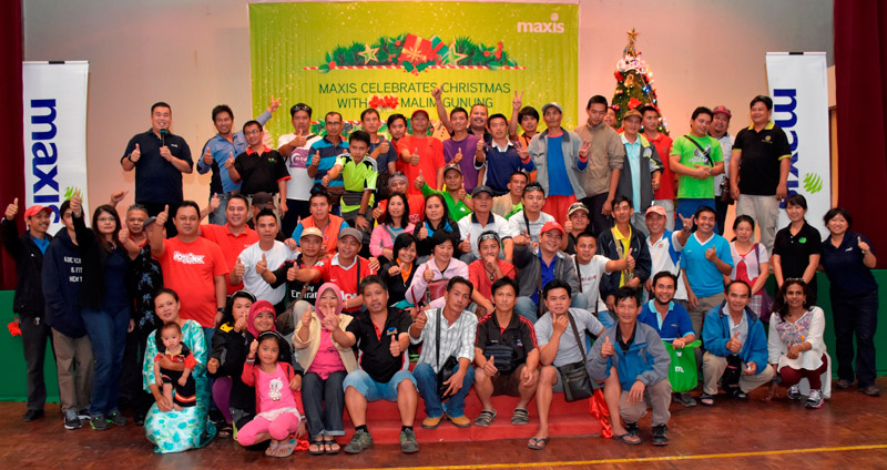 Maxis brings festive cheer to Kinabalu Malim Association Members
