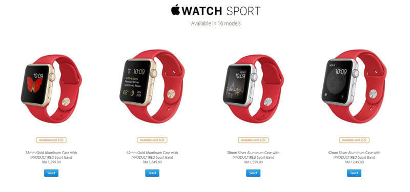 Apple Watch Sport (PRODUCT)RED