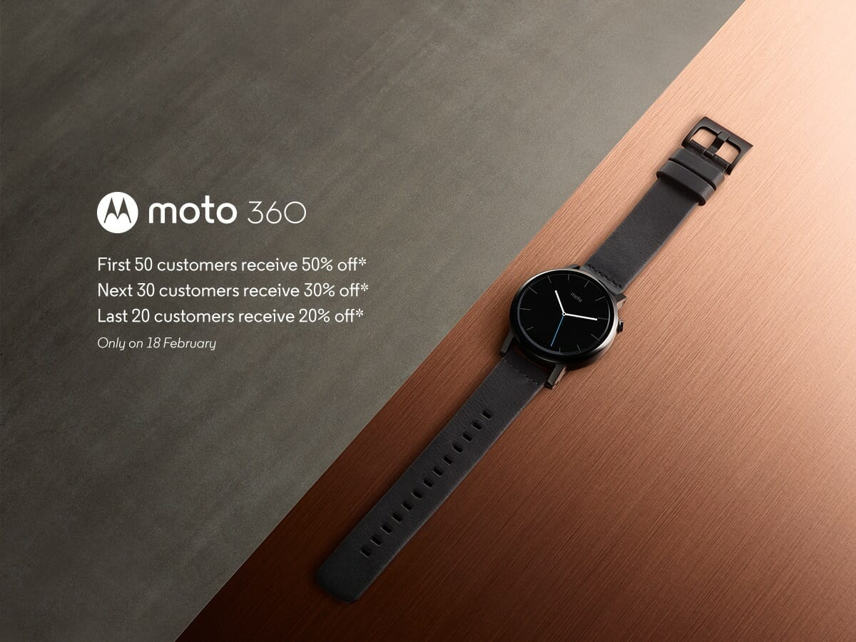 Grab the new Moto 360 smartwatch for 50% off, today only