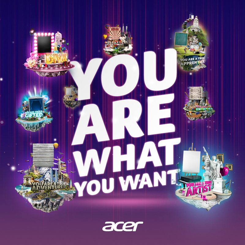 Take part in Acer's 'You Are What You Want' Campaign