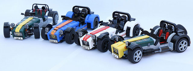 LEGO Ideas Caterham Super Seven kit gets green light for production