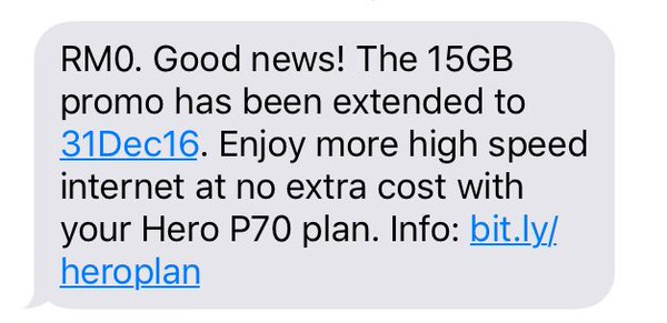 U Mobile Hero Postpaid P70