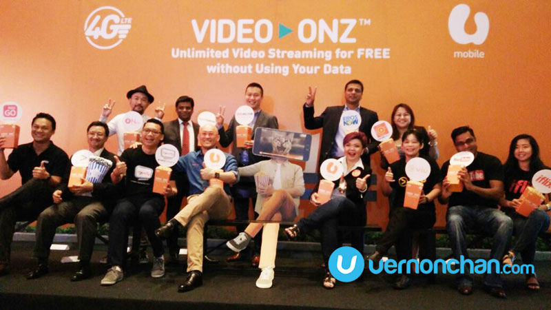 U Mobile Video-Onz gives free unlimited data for you to binge-watch videos