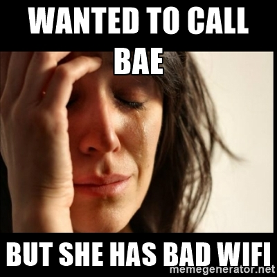 Bad wifi meme