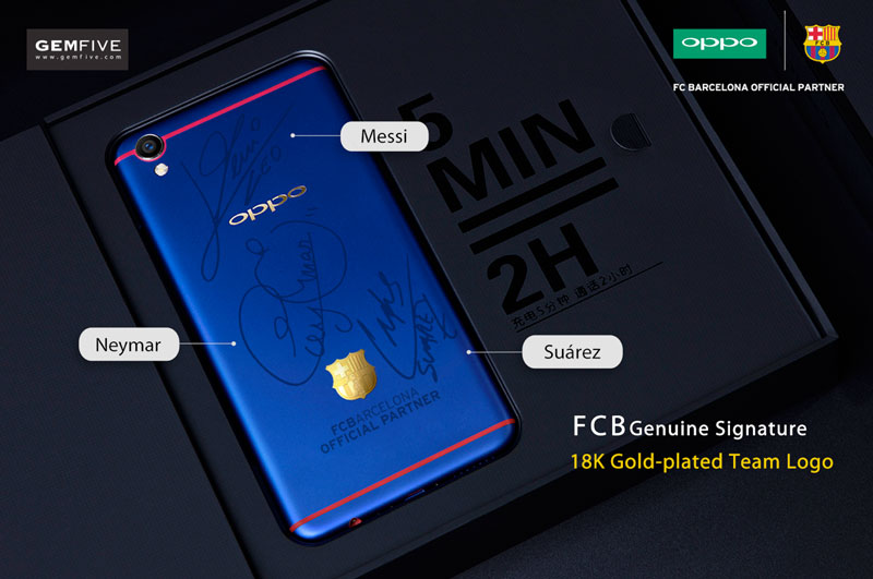 Bid and win the OPPO F1 Plus FC Barcelona Player's Signature Edition