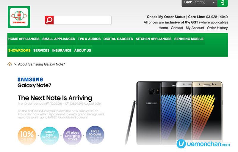 Samsung Galaxy Note7 Pre-order