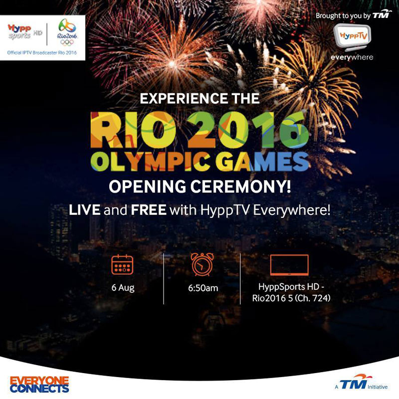 No Astro no problem, catch Rio 2016 on HyppTV Everywhere for free