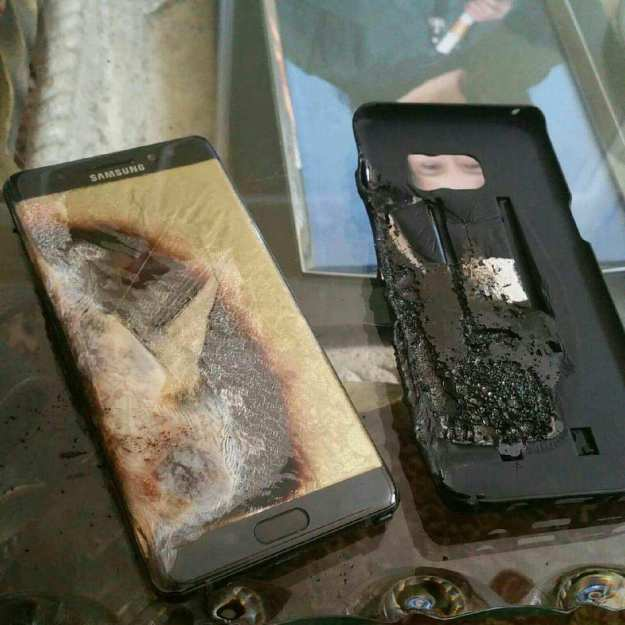 Galaxy Note7 exploding battery