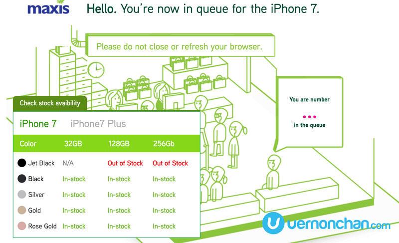 Maxis iPhone 7 pre-order queue
