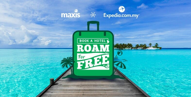Get free data roaming with Maxis when you book a room on Expedia