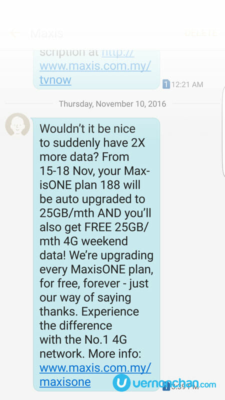 Free 2x more data for all MaxisONE plan customers, up to 50GB a month