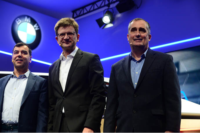 CES2017 Intel BMW Group Mobileye