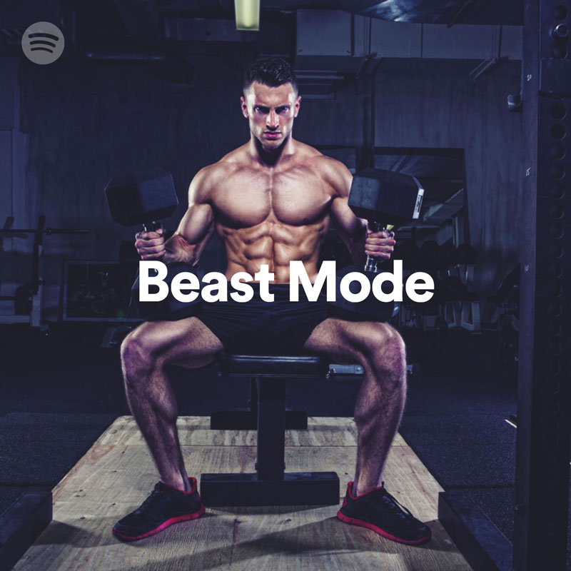 "Get into workout ""Beast Mode"" with Spotify's workout playlists"