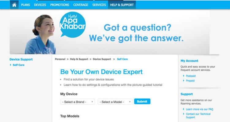 Celcom Self-Service Web Support Portal