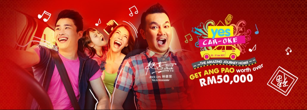 "Sing your way to a MYR3,888 cash ang pao with the ""Yes Car-Oke"" contest"