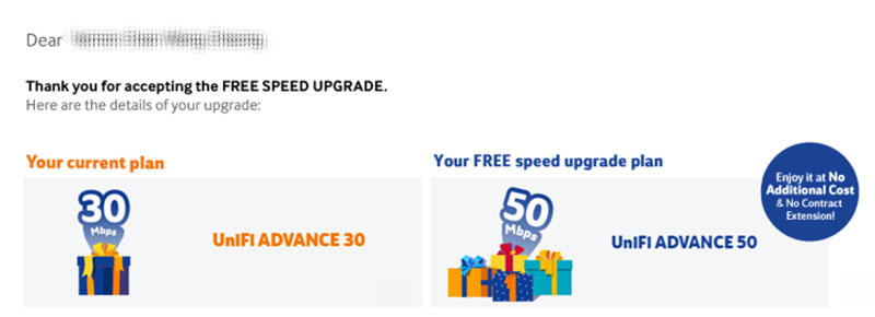 UniFi speed upgrade