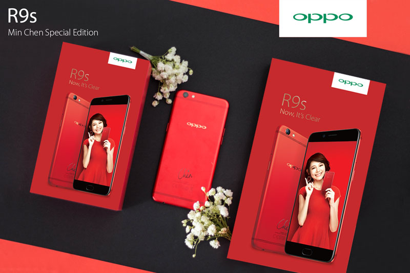 Min Chen fans, here's the perfect phone for you: OPPO R9s Min Chen Special Edition