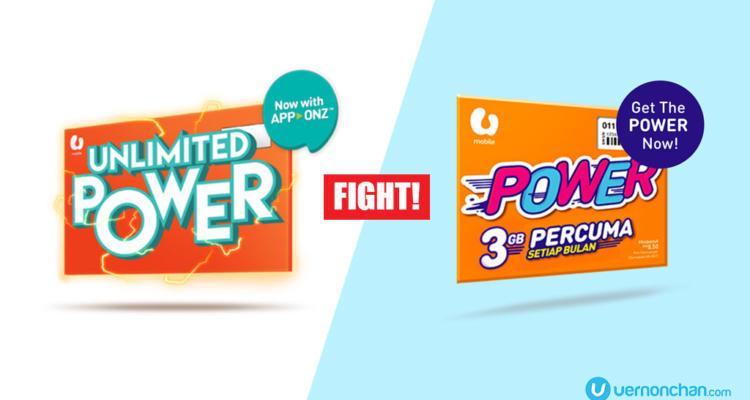 U Mobile Unlimited Power Prepaid vs Power Prepaid