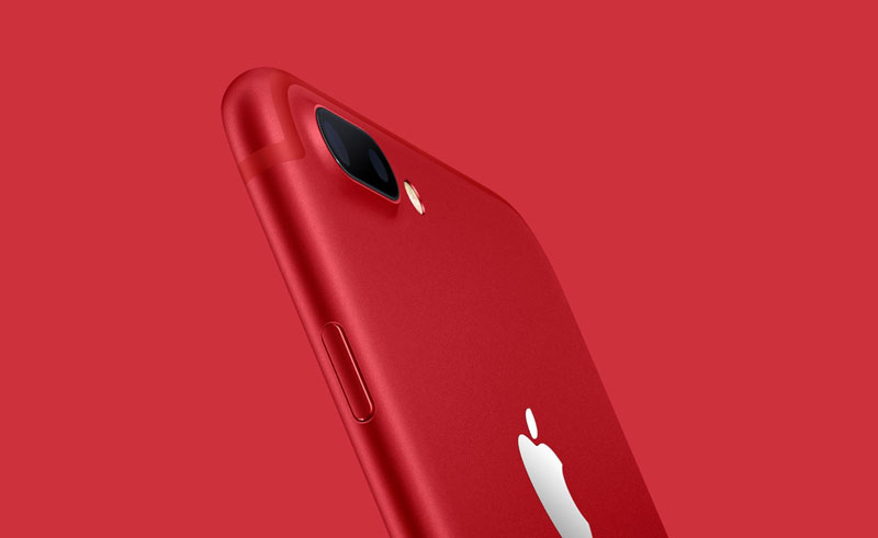 Apple iPhone 7 sees (RED)
