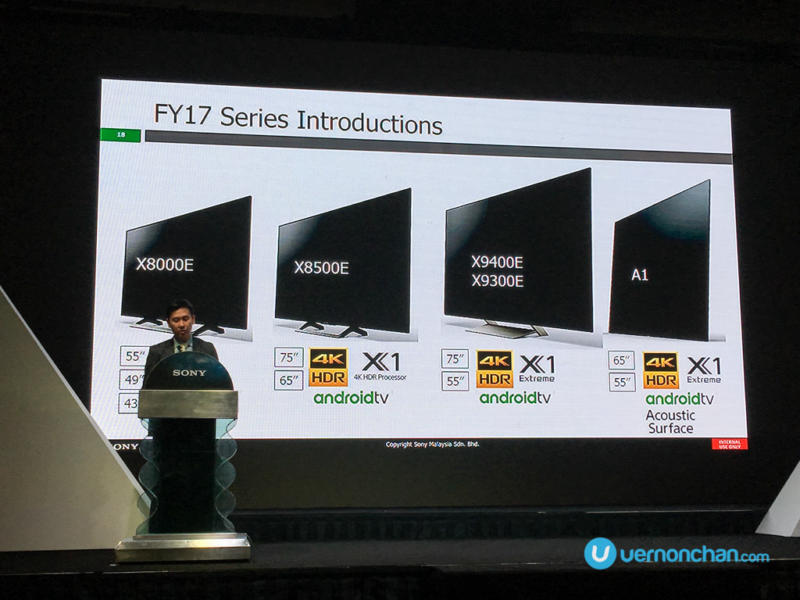 Sony Expo 2017 Bravia OLED 4K TV