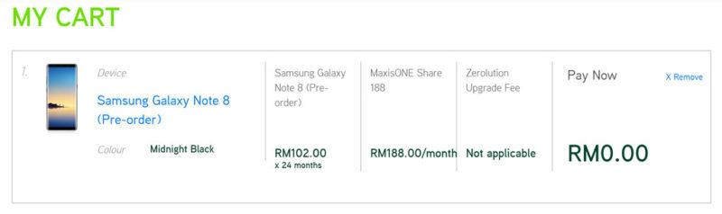 Maxis Galaxy Note8 Zerolution