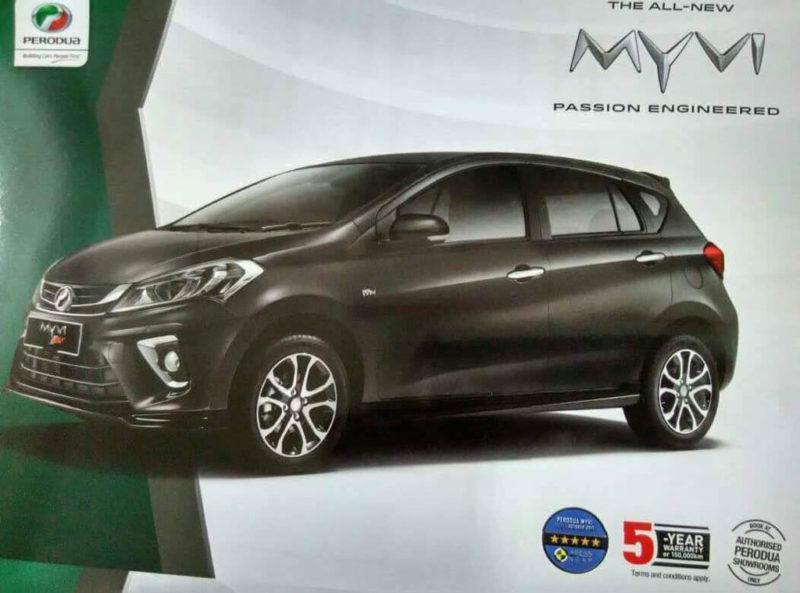 2018 Perodua Myvi leaked literature.