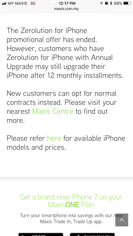 Maxis Zerolution ends