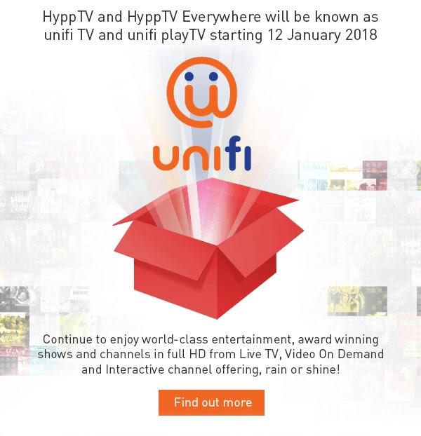 HyppTV becomes unifi TV