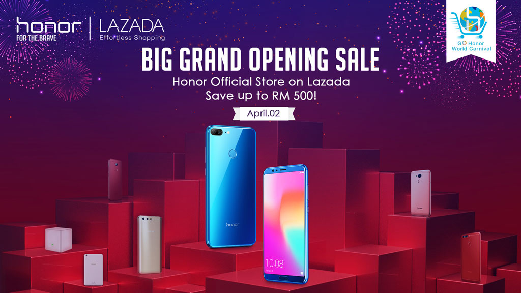 Honor to open official store on Lazada on 2 April