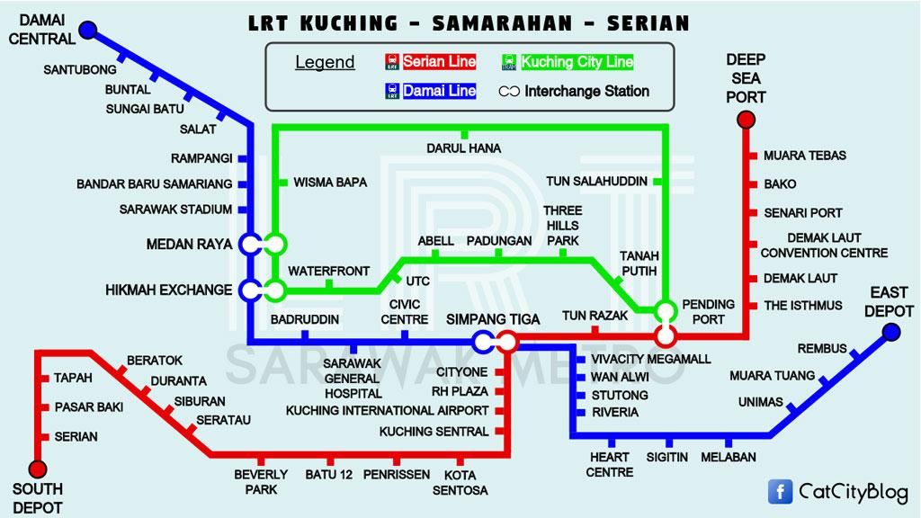 Kuching LRT Routes