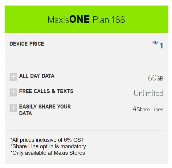 Huawei P20 MaxisONE