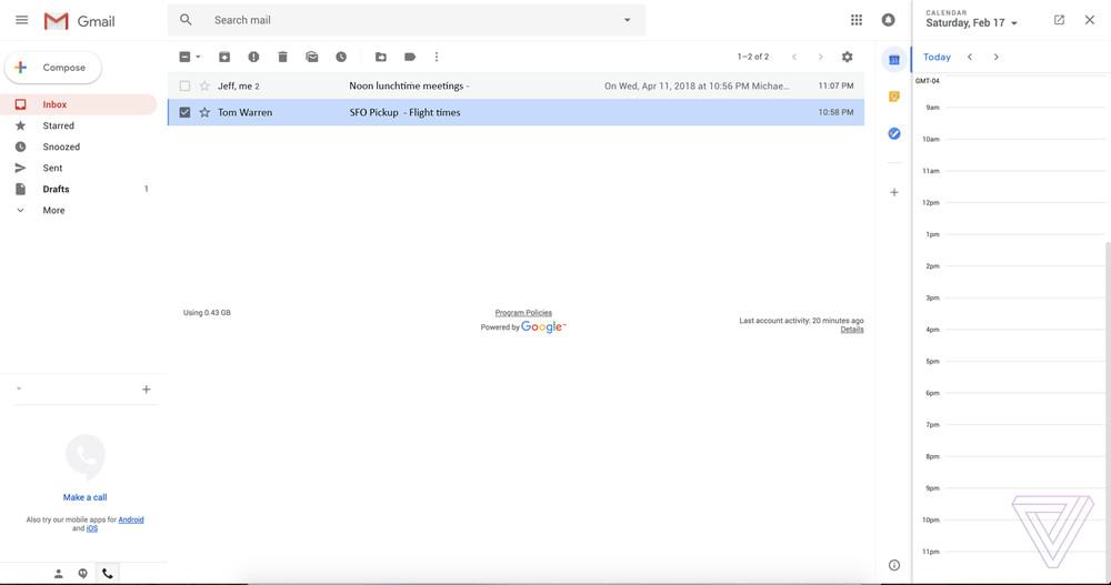 New Gmail Design