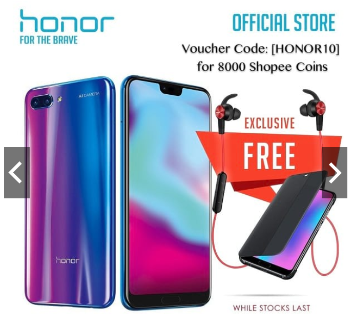 honor 10 Shopee