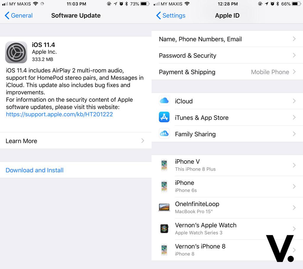 Apple iOS 11.4 update