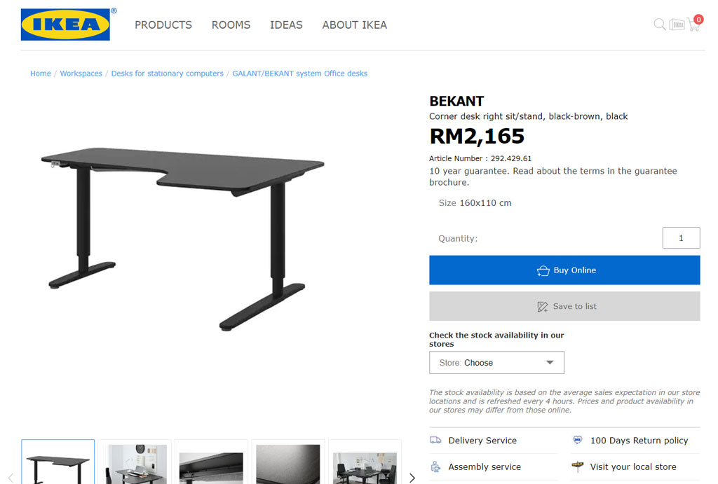 You can now shop via the IKEA Malaysia online store