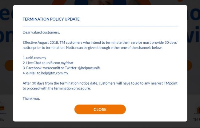 TM Termination Policy