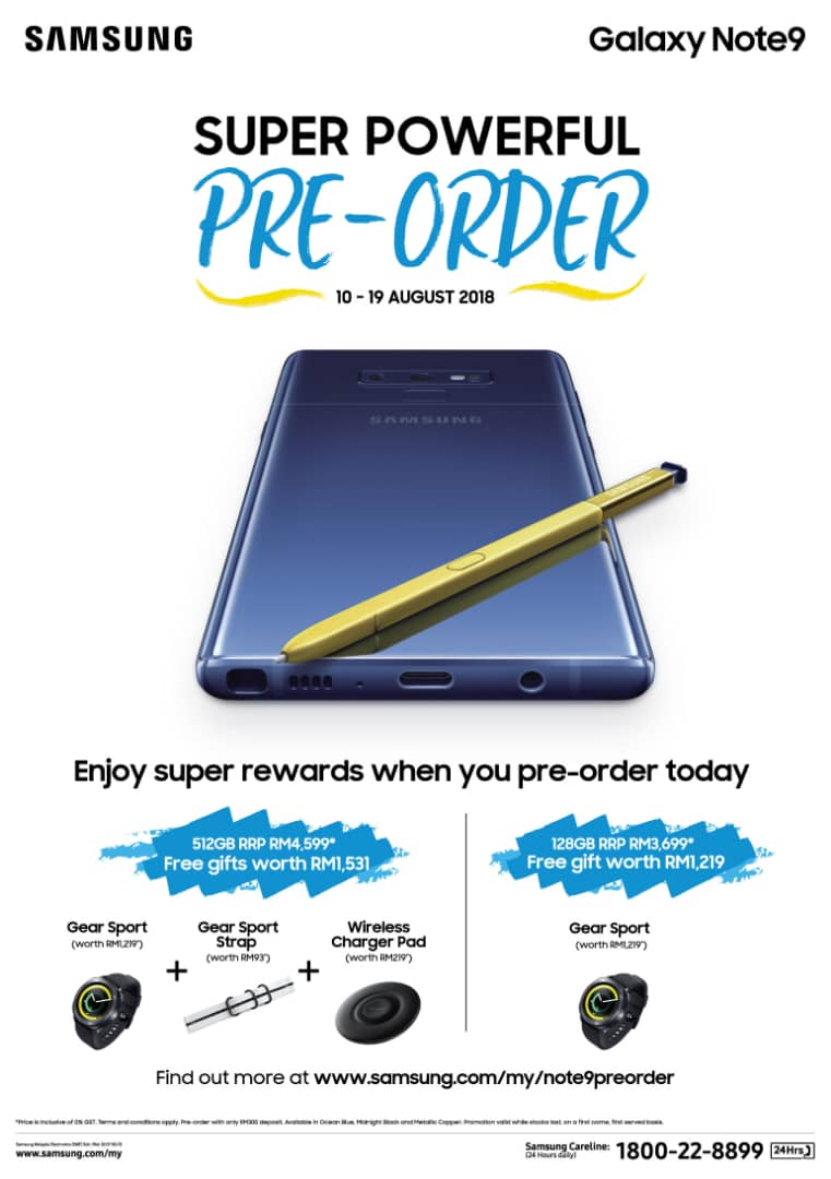 Samsung Galaxy Note9 pre-order