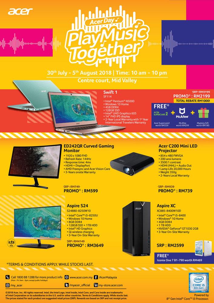 Acer Day 2018 deals