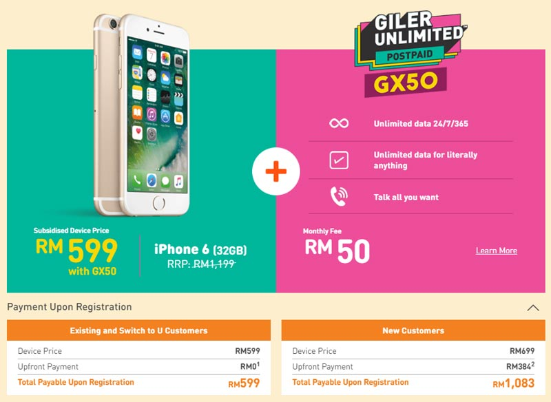 Get an iPhone 6 for MYR599