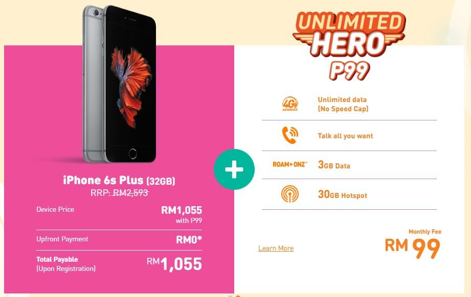 U Mobile P99 iPhone 6s Plus