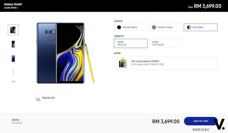 Samsung Galaxy Note9 promo