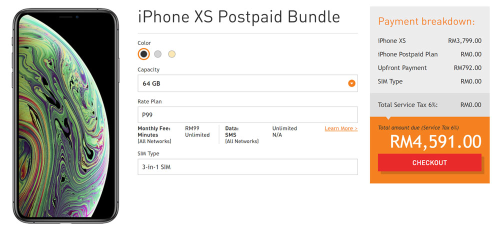U Mobile iPhone XS bundles