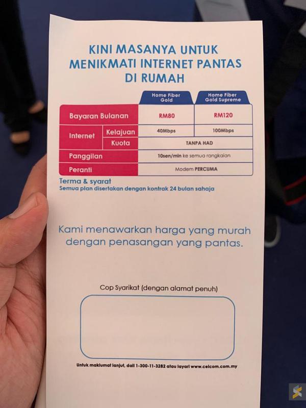 Celcom fibre packages