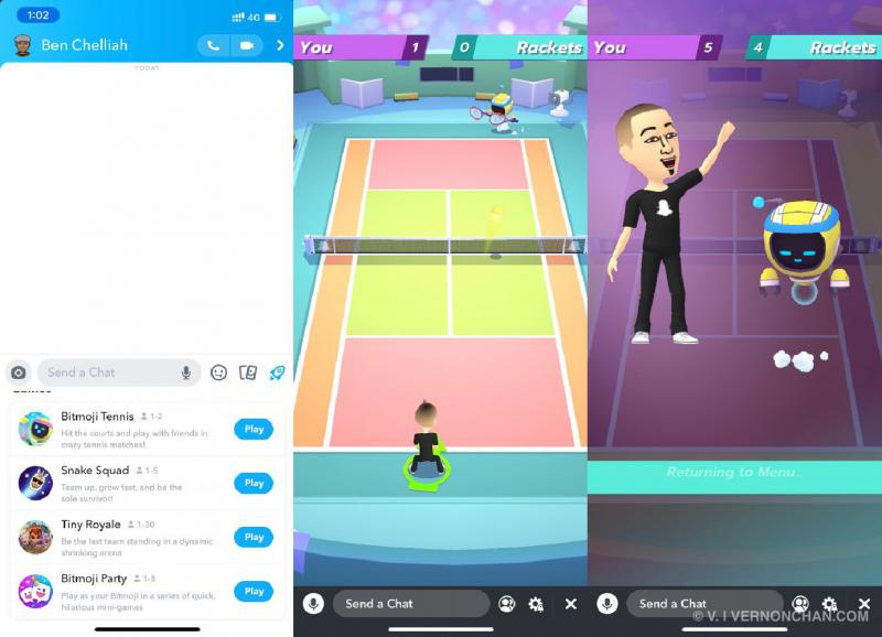 Snapchat Bitmoji Tennis
