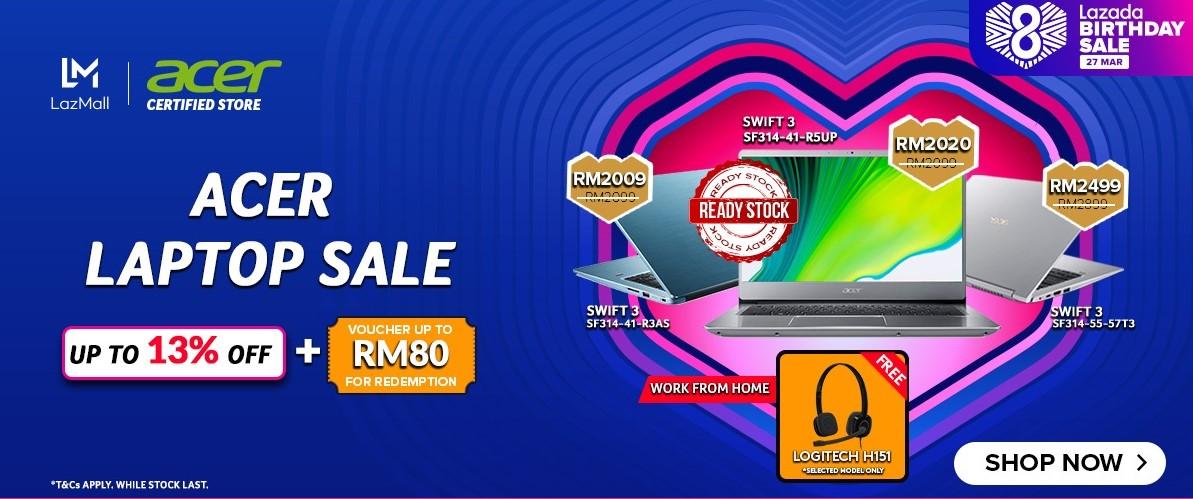 Acer Aspire 3 Lazada 8th Birthday Sale